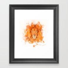 Splatter Lion Framed Art Print