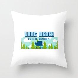 Long Beach Washington State. Throw Pillow
