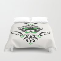 new zealand Duvet Covers featuring New Zealand  by Carly Hitchcock