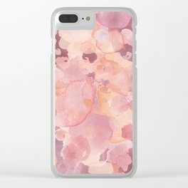 Rosy Tones Clear iPhone Case