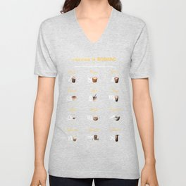 Coffee type and Zodiac sign #4 Unisex V-Neck