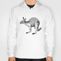kangaroo Hoodies featuring Kangaroo by Goodnight Silver