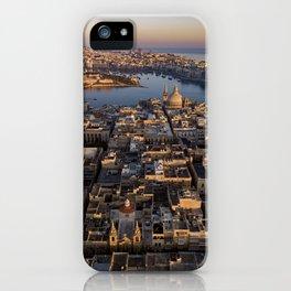 Valletta City Malta   Aerial Photography  iPhone Case