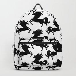 Simple Black Unicorn Backpack