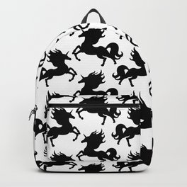 Simple Black Unicorn Backpack