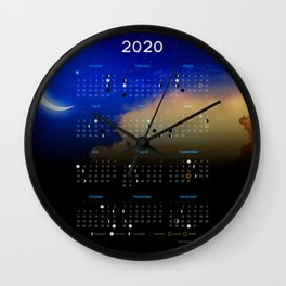 Moon calendar 2020 #11 Wall Clock