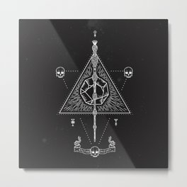 Deathly Hallows Metal Print