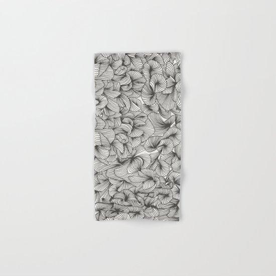 Black Inklings Hand & Bath Towel