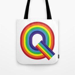 Rainbow Monogram - Letter Q Tote Bag