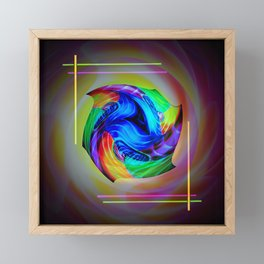 Abstract in perfection - Cube 5 Framed Mini Art Print