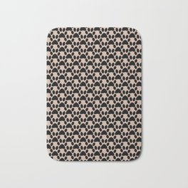 Black and brown trace Bath Mat