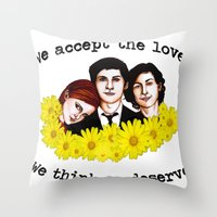 the perks of being a wallflower Throw Pillows featuring Perks of being a Wallflower by Lydia Dick
