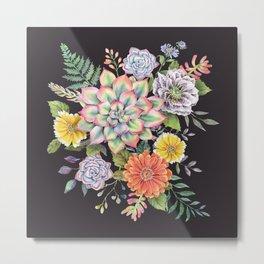 Watercolor Succulents #65 Metal Print
