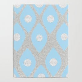 Eye Pattern Blue Poster