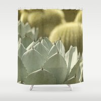 cactus Shower Curtains featuring Succulent by Pure Nature Photos