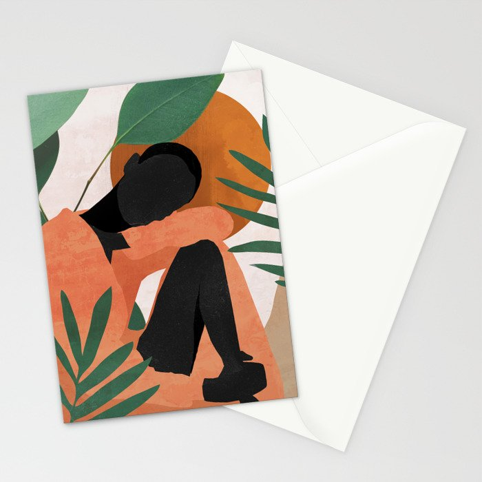 Tropical Girl 10 Stationery Cards