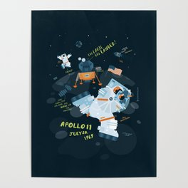 Apollo 11 Moonlanding Anniversary Poster