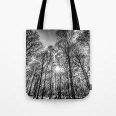 Monochrome Forest Tote Bag