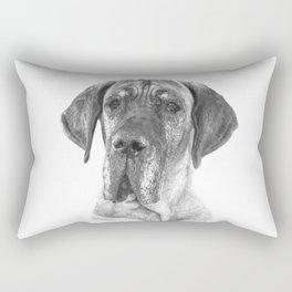 Black and White Great Dane Rectangular Pillow
