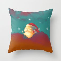 Santa Clouds Throw Pillow