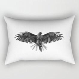 Black Bird White Sky Rectangular Pillow