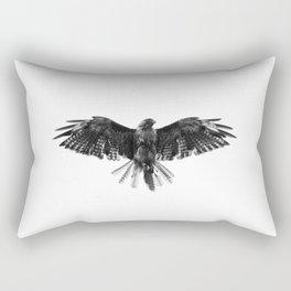 Black Bird White Sky Rectangular Pillow