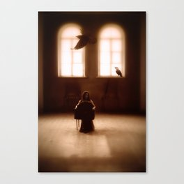 raven girl Canvas Print