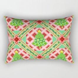 Groovy Festive Christmas Rectangular Pillow
