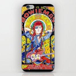 BOWIEMAS 9 - Rebel Rebel / Alphonse Mucha - 2013 iPhone Skin