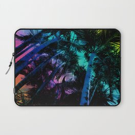 The Palm Trees Under the Seaside Rainbow Laptop Sleeve