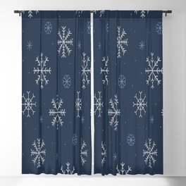 Artistic snowflakes pattern Blackout Curtain
