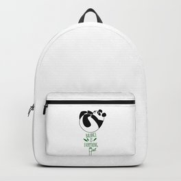 Balance Is Everything! Tumbling panda Backpack