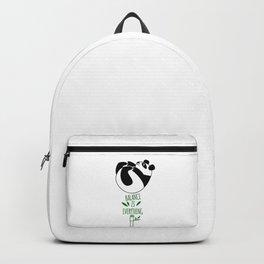 Balance Is Everything! Tumbling panda Backpack