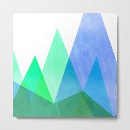 Mountains - Trees Metal Print