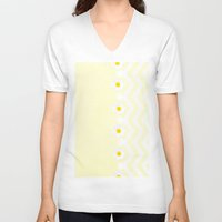 daisy V-neck T-shirts featuring Daisy  by Monika Strigel
