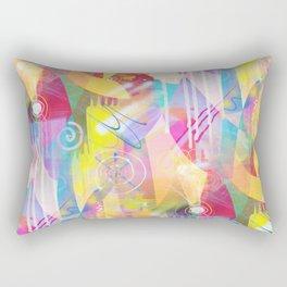 Summer Chaos Painted Rectangular Pillow