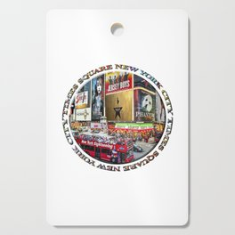 Times Square New York City (badge emblem on white) Cutting Board