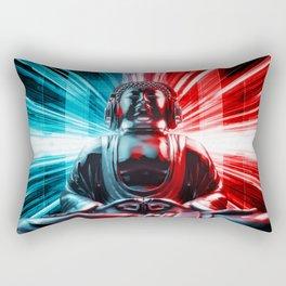 Techno Buddha Rectangular Pillow