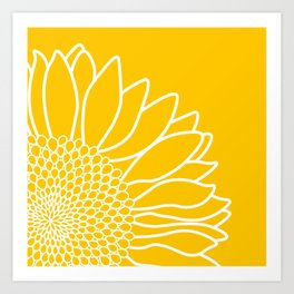 Sunflower Cheerfulness Art Print