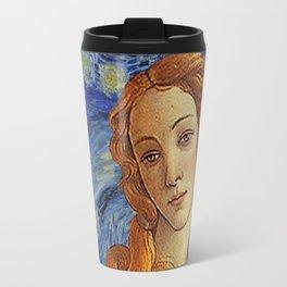 Venus with a Ermine in a Starry Night Travel Mug