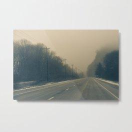 Empty Highway Metal Print