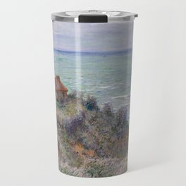 Monet - Cabin of the Customs Watch, 1882 Travel Mug