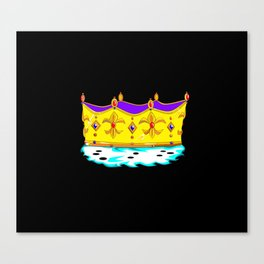 A Royal Gold Crown with Black Background Canvas Print