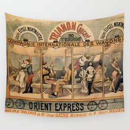 1896 Orient Express musical revue Paris Wall Tapestry