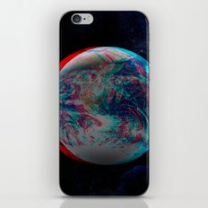 Earth Anaglyph  iPhone & iPod Skin