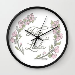Future World Leader Wall Clock