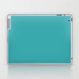 Aqua / Teal / Turquoise Solid Color Pairs with Sherwin Williams 2020 Trending Color Aquarium SW6767 Laptop & iPad Skin