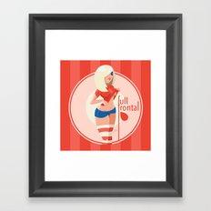 Full Frontal Framed Art Print