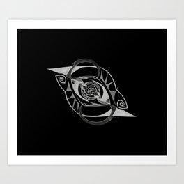 Abstract Forms - Freud's Eye (Dark) Art Print