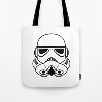 stormtrooper Tote Bags featuring stormtrooper by Vreckovka
